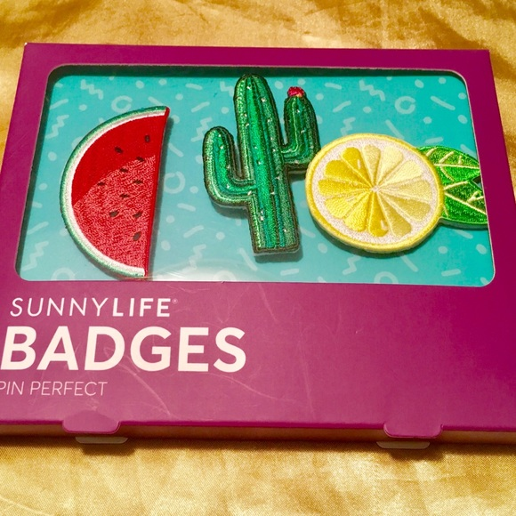 SUNNYLIFE Accessories - SUNNYLIFE BADGES PIN PERFECT, SET OF 3